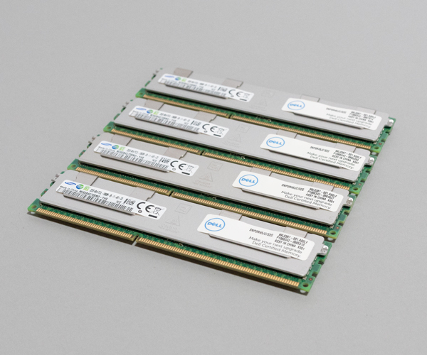 【MemTest済】Samsung メモリ 32GB DIMM 4枚セット 合計 128GB 240pin 1333MHz 10600R DDR3 RDIMM ECC Registerd #0622A