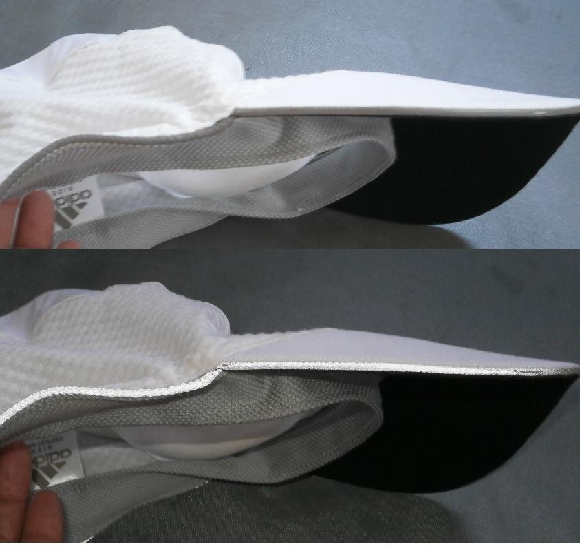 送料220円 アディダス adidas クライマクール 蛍光反射 キャップ ・ランニングキャップ_画像3