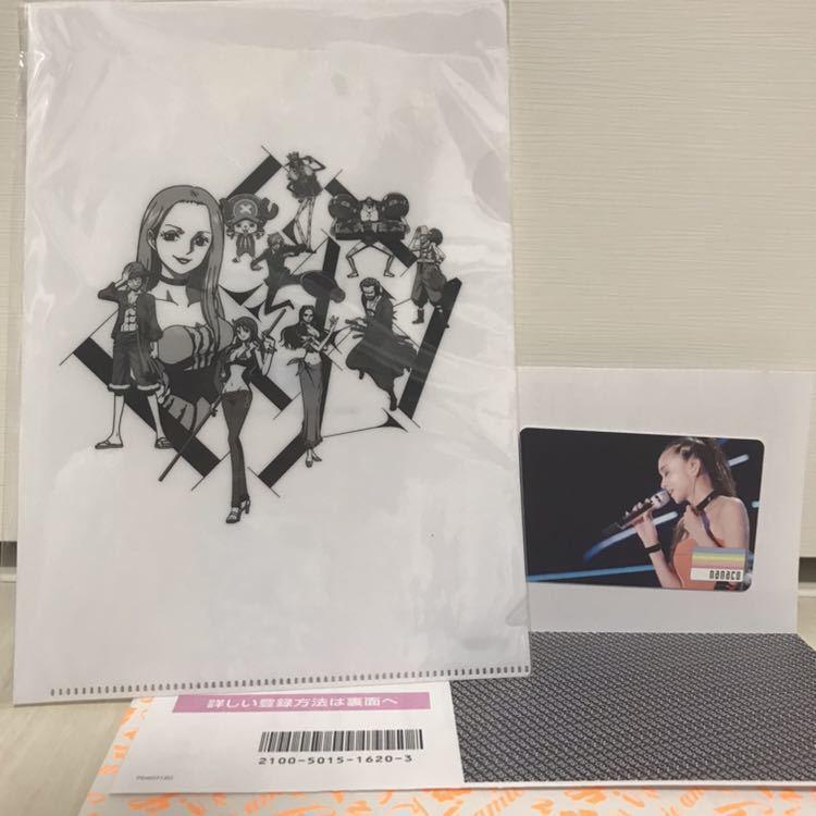 新品 安室奈美恵 final tour 2018 ~finally~ nanacoカード ワンピースコラボクリアファイル ナナコ ワンピース セブンネット限定特典_画像4