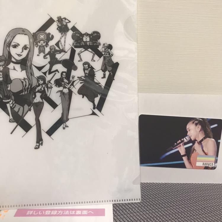 新品 安室奈美恵 final tour 2018 ~finally~ nanacoカード ワンピースコラボクリアファイル ナナコ ワンピース セブンネット限定特典