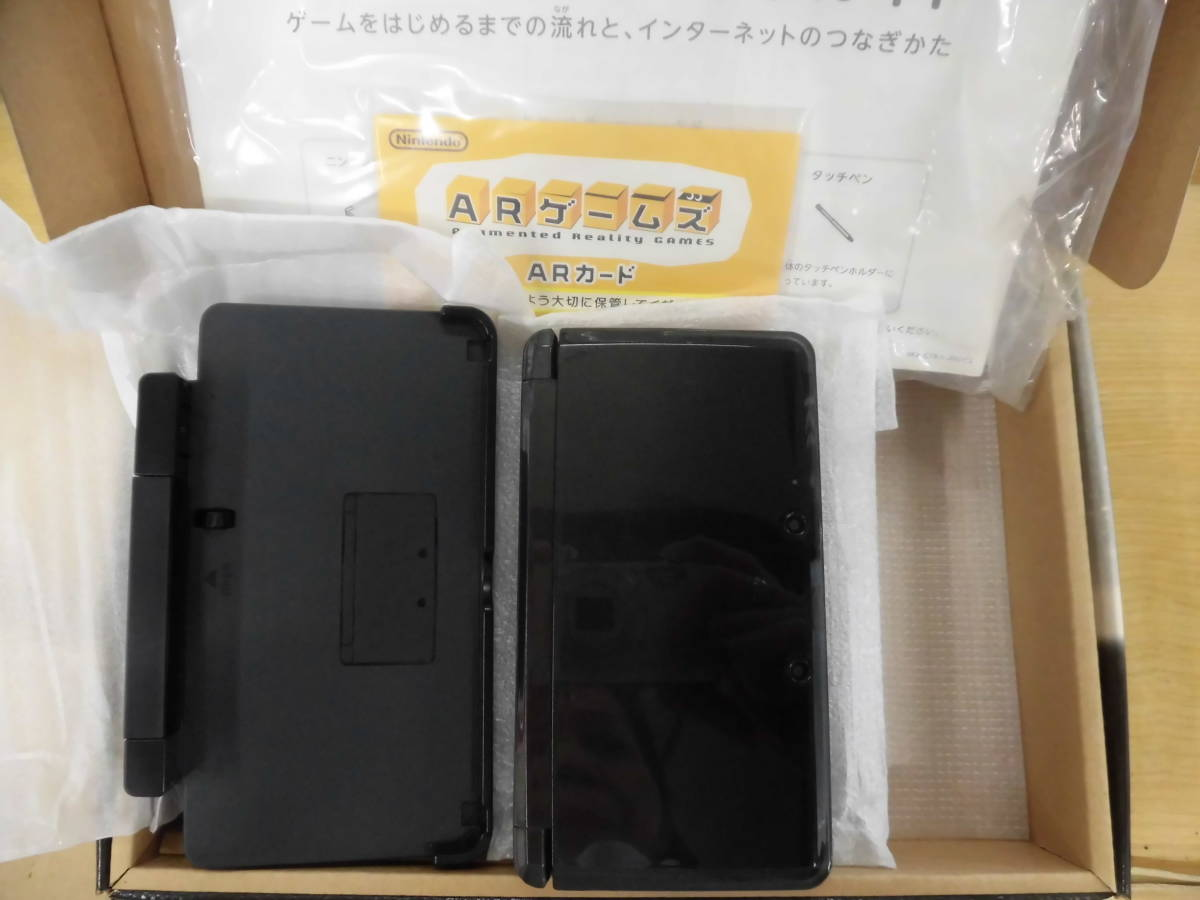 中古 Nintendo 3DS ブラック+DS ライト+ドラゴンクエストⅠⅩ 星空の守り人 ゲームソフト_画像2