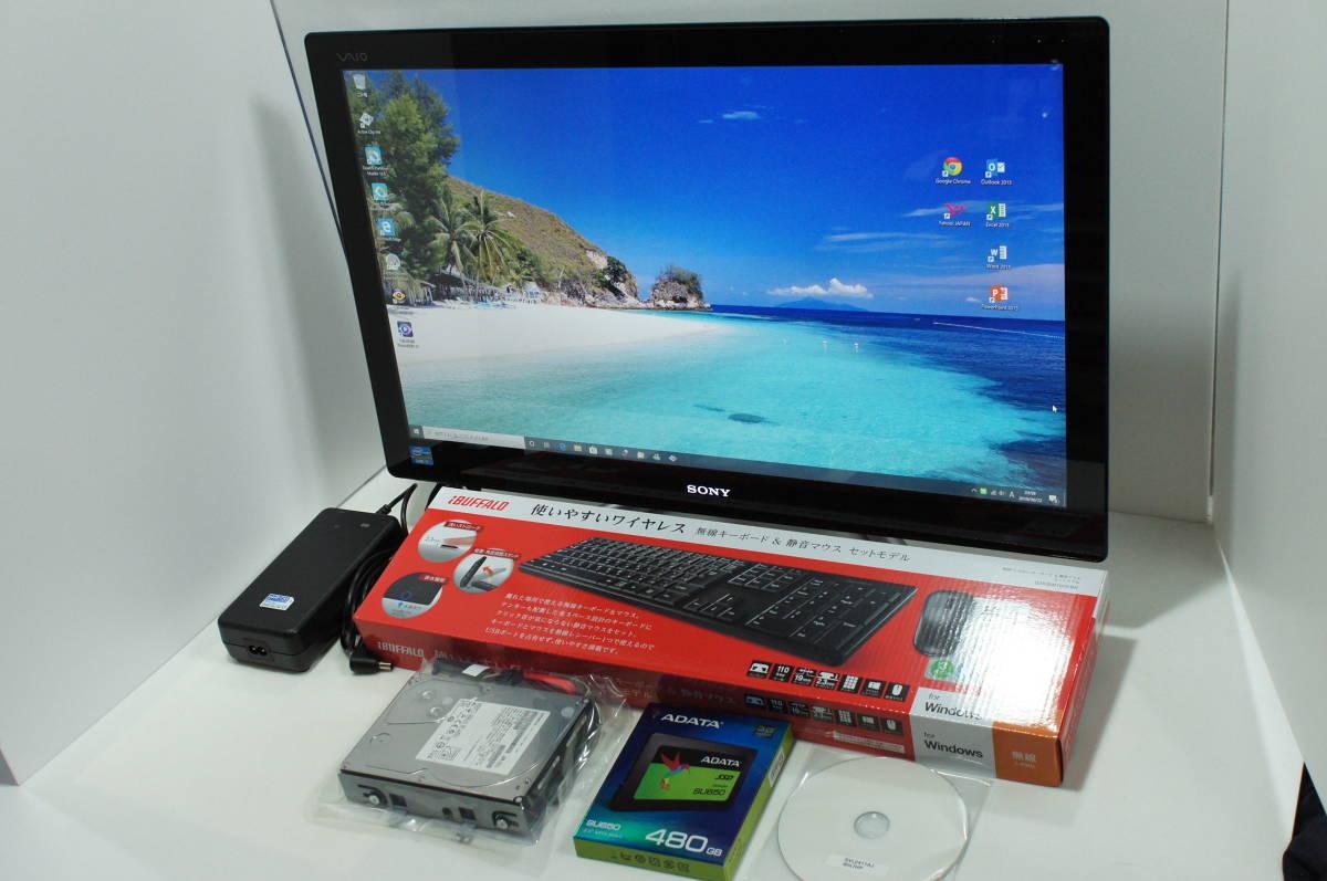 ☆超速中古良品☆SONY VAIO SVL2411AJ/Core i7-3610QM/8GB/SSD480GB/Win10Home/Office2013/GT620M/すぐつくTV/ブルーレイ_画像2