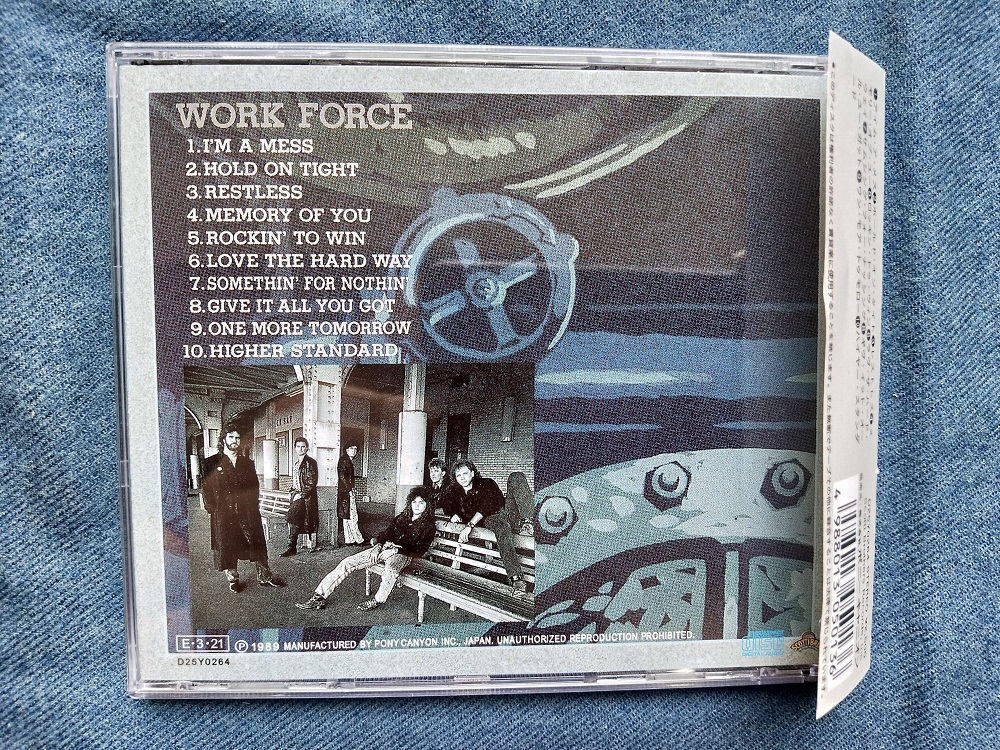 WORK FORCE・ワーク・フォース【D25Y0264・税なし帯付き国内盤・1989年・AOR・メロハー】_画像2