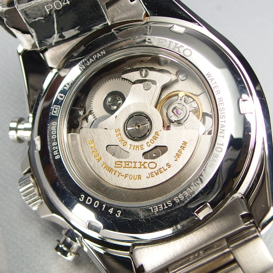 【送料無料 未使用品クラス】 SEIKO セイコー BRIGHTZ ブライツ クロノグラフ SDGZ001 自動巻 バックスケルトン メンズ 腕時計 ギャラ/箱付_画像9