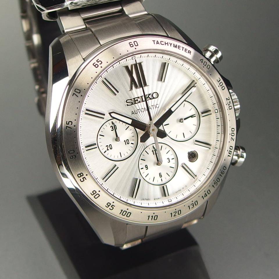 【送料無料 未使用品クラス】 SEIKO セイコー BRIGHTZ ブライツ クロノグラフ SDGZ001 自動巻 バックスケルトン メンズ 腕時計 ギャラ/箱付_画像3