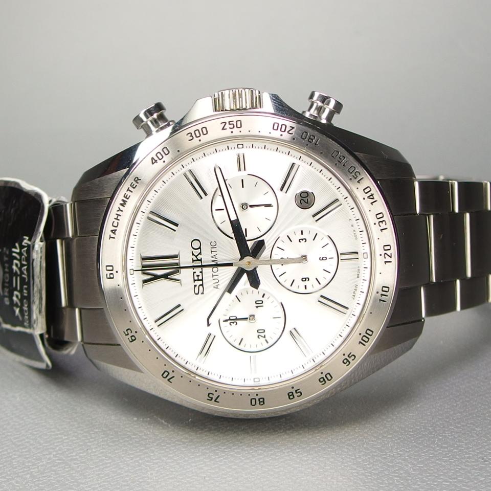【送料無料 未使用品クラス】 SEIKO セイコー BRIGHTZ ブライツ クロノグラフ SDGZ001 自動巻 バックスケルトン メンズ 腕時計 ギャラ/箱付_画像5