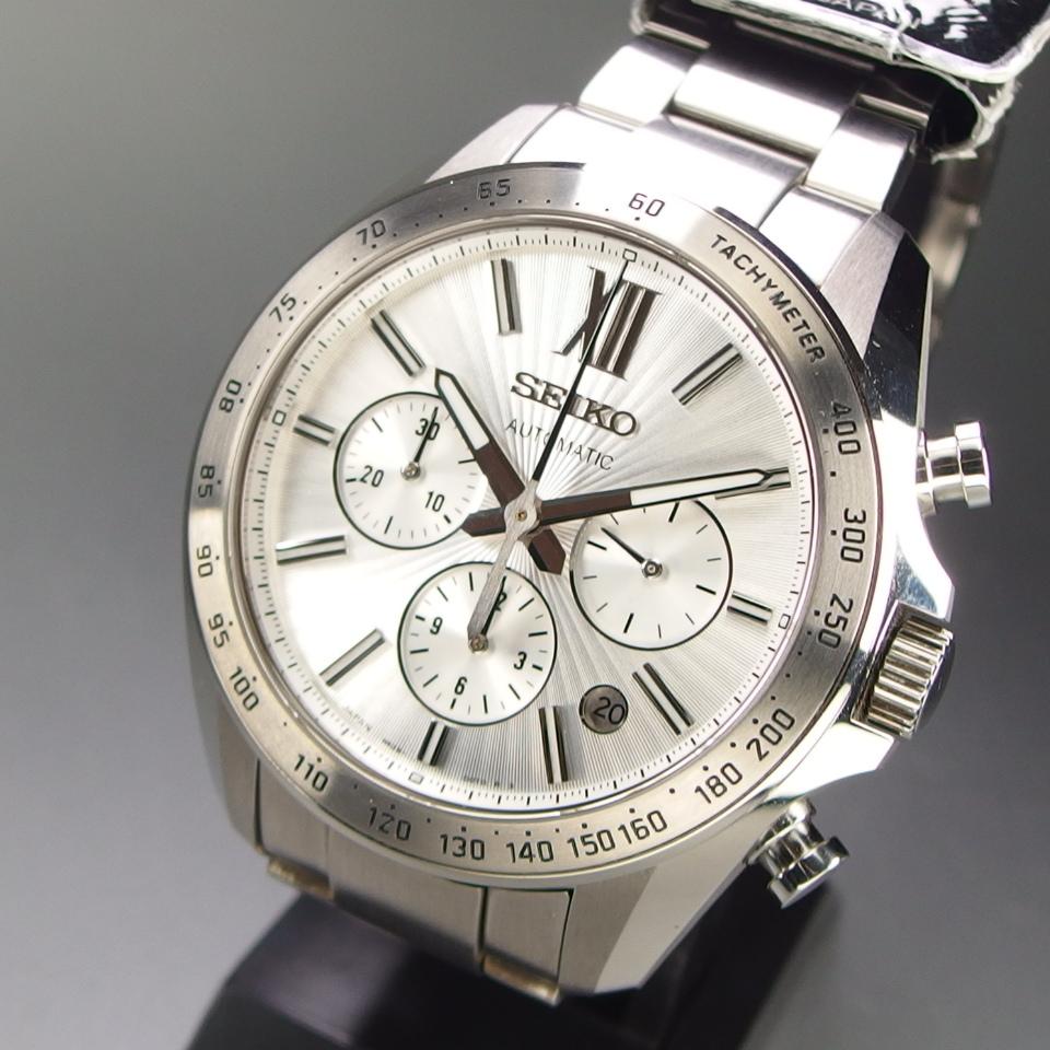 【送料無料 未使用品クラス】 SEIKO セイコー BRIGHTZ ブライツ クロノグラフ SDGZ001 自動巻 バックスケルトン メンズ 腕時計 ギャラ/箱付