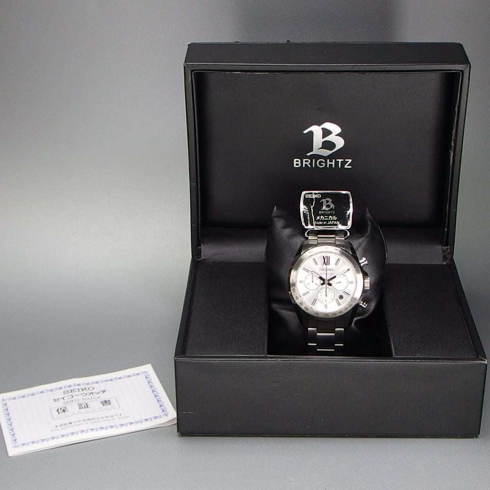 【送料無料 未使用品クラス】 SEIKO セイコー BRIGHTZ ブライツ クロノグラフ SDGZ001 自動巻 バックスケルトン メンズ 腕時計 ギャラ/箱付_画像10