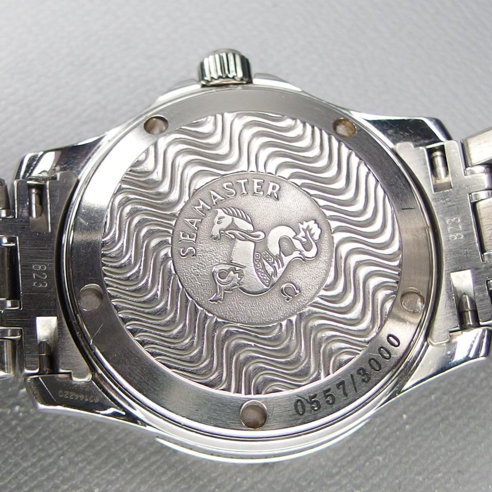 【送料無料 希少 限定 クロノメーター】 OMEGA オメガ Seamaster シーマスター ジャックマイヨール 2553.41 自動 メンズ 腕時計 取説/箱付_画像8