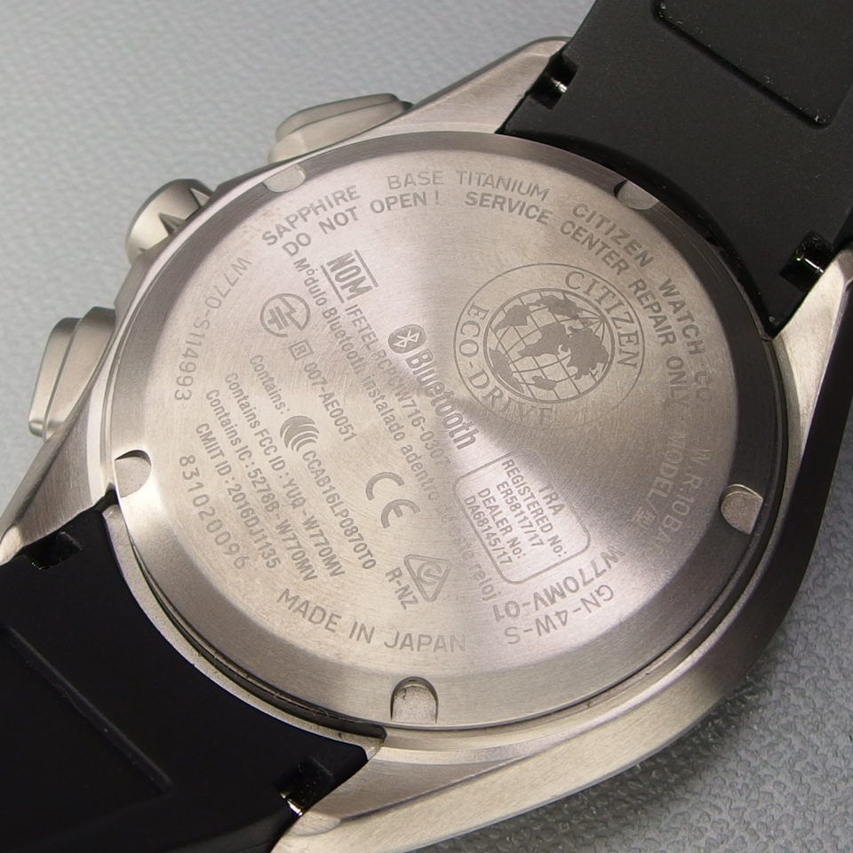【超美品 メーカー保証期間内】 CITIZEN シチズン Eco-Drive Bluetooth 携帯端末接続機能付 W770-S114993 メンズ 腕時計 ギャラ/取説/箱付_画像8