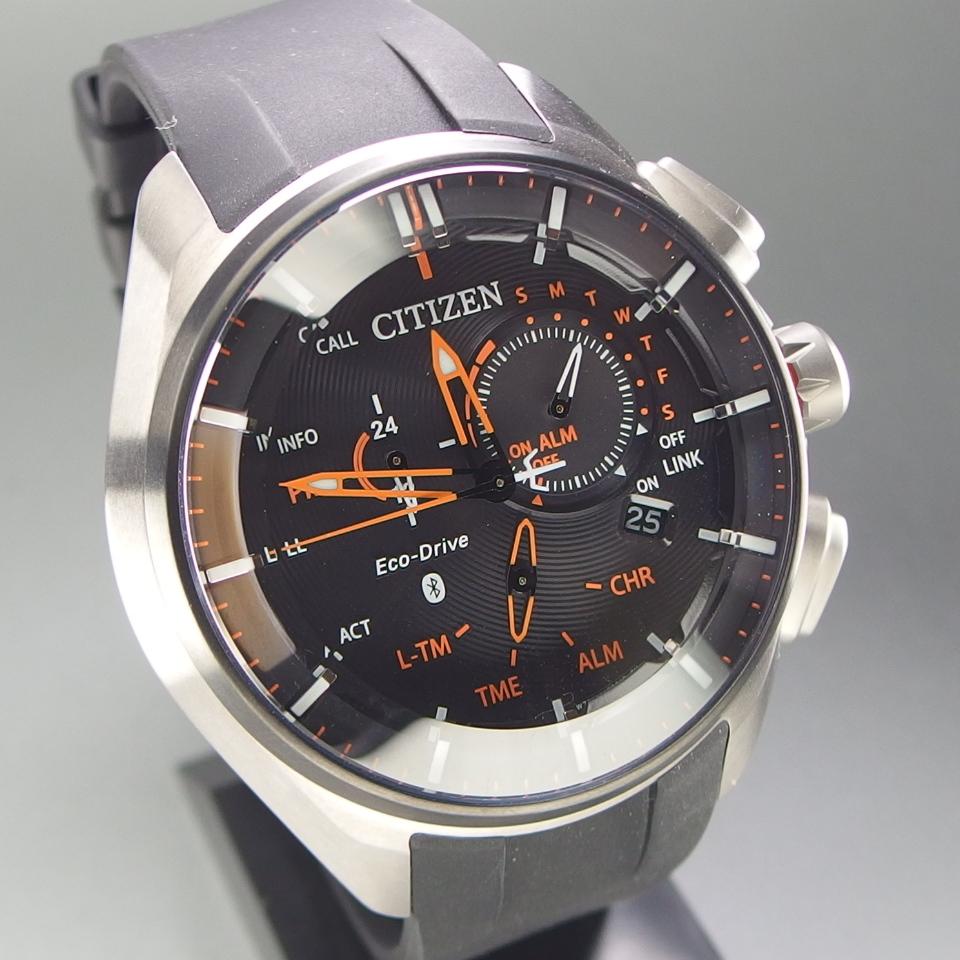 【超美品 メーカー保証期間内】 CITIZEN シチズン Eco-Drive Bluetooth 携帯端末接続機能付 W770-S114993 メンズ 腕時計 ギャラ/取説/箱付_画像3