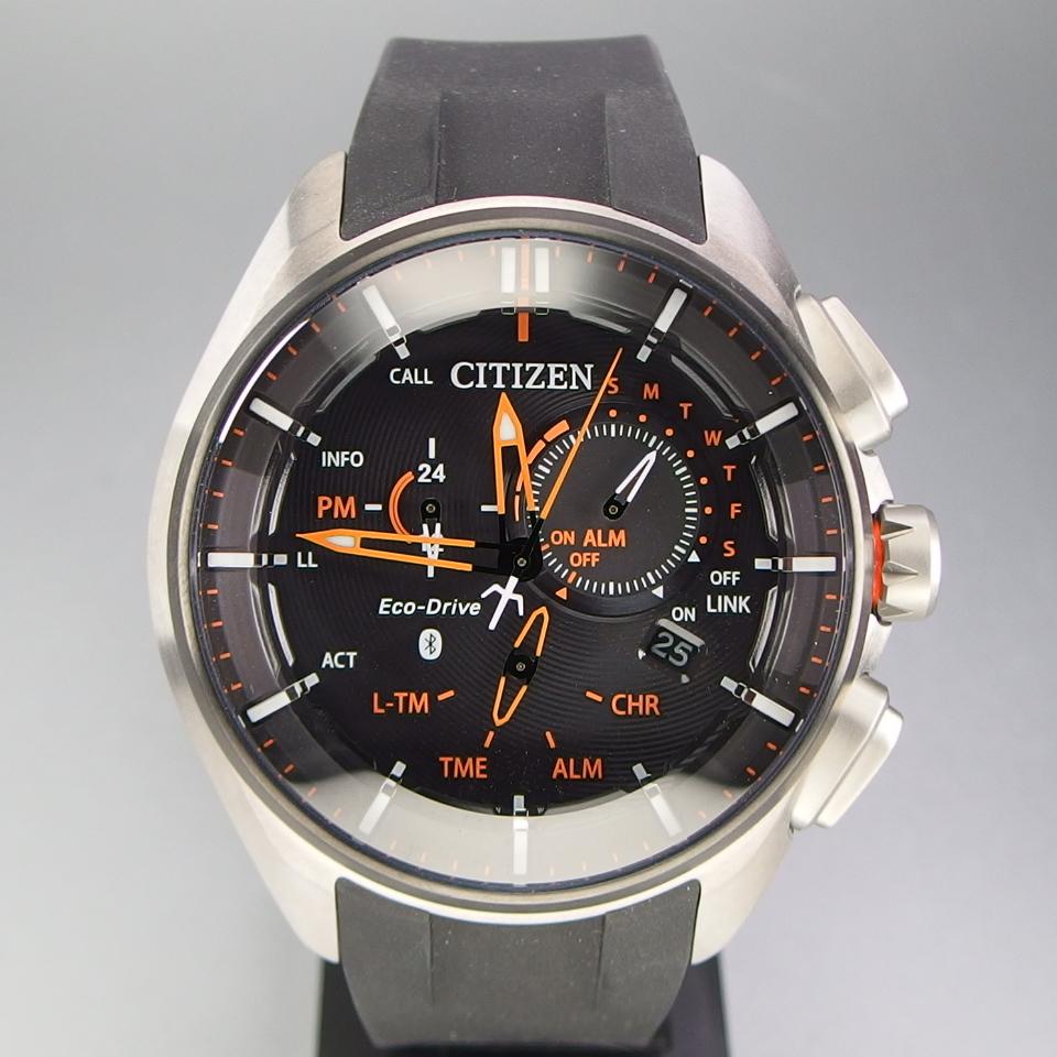 【超美品 メーカー保証期間内】 CITIZEN シチズン Eco-Drive Bluetooth 携帯端末接続機能付 W770-S114993 メンズ 腕時計 ギャラ/取説/箱付_画像2