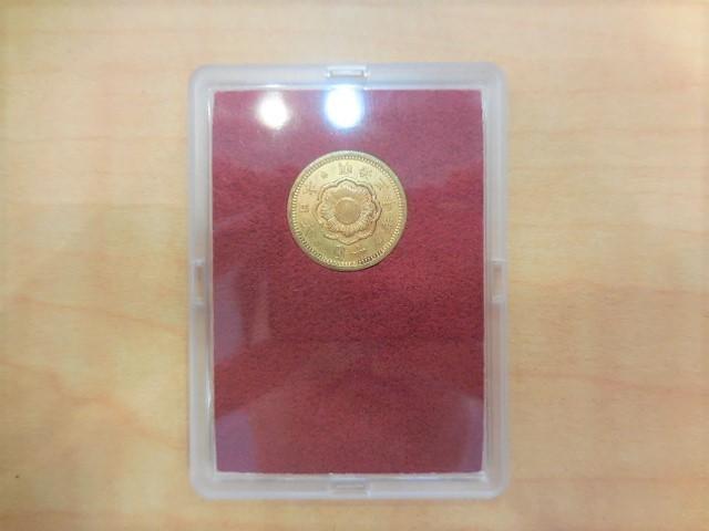 ◆近代金貨◆ 新10円金貨 明治30年 (1897) 美品B 財務省放出金貨 #23499_画像3