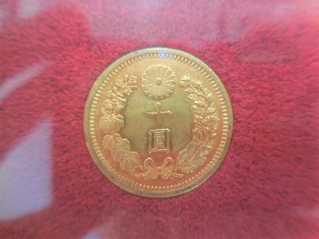 ◆近代金貨◆ 新10円金貨 明治30年 (1897) 美品B 財務省放出金貨 #23499_画像5