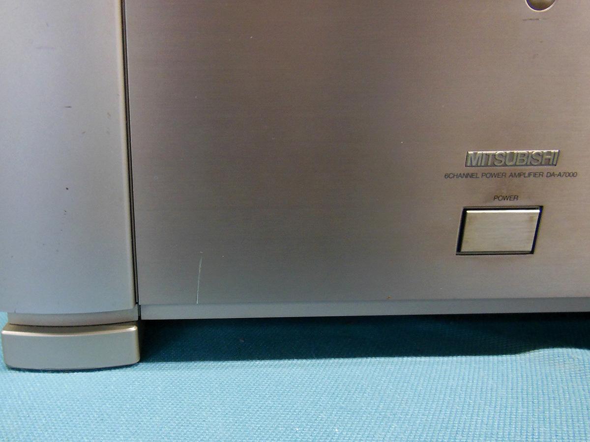 【訳あり】 DIATONE DA-A7000 マルチチャンネルパワーアンプ 三菱 MITSUBISHI DENON POA-5000 OEM デノン_画像4