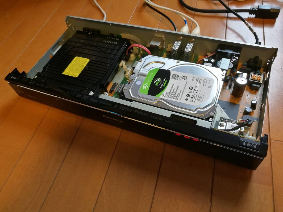 ◆◆ [ 2TB → 8TB 新品ST8000DM004 換装済 ]Panasonic DIGA DMR-BZT730 取説コピー付・動作品 [送料無料]_画像3