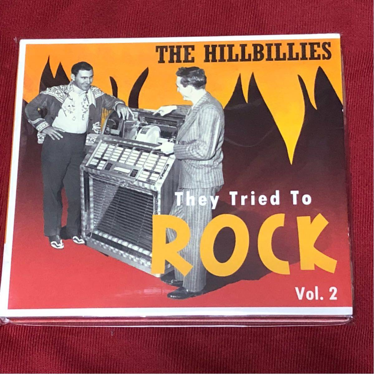 「THE HILLBILLIES THEY TRIED TO ROCK VOL.2」50'sロカビリーコンピ盤ベアファミリー