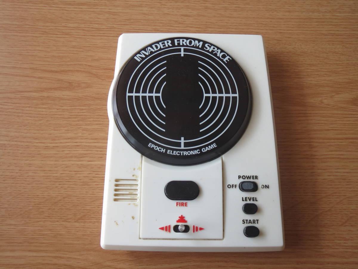 遊べます 希少 1980年 インベーダーゲーム エポック エレクトロニック ゲーム INVADER FROM SPACE ビンテージ _画像1