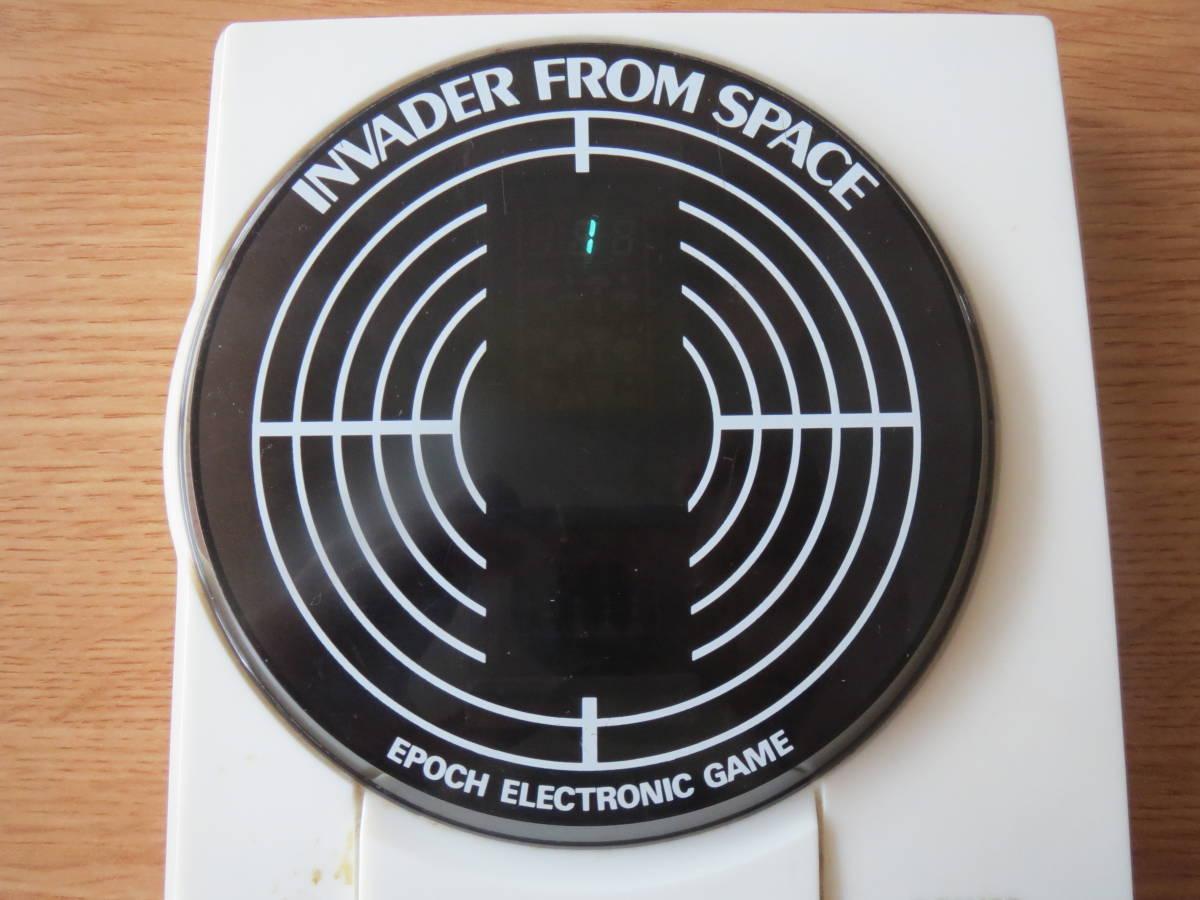 遊べます 希少 1980年 インベーダーゲーム エポック エレクトロニック ゲーム INVADER FROM SPACE ビンテージ _画像2