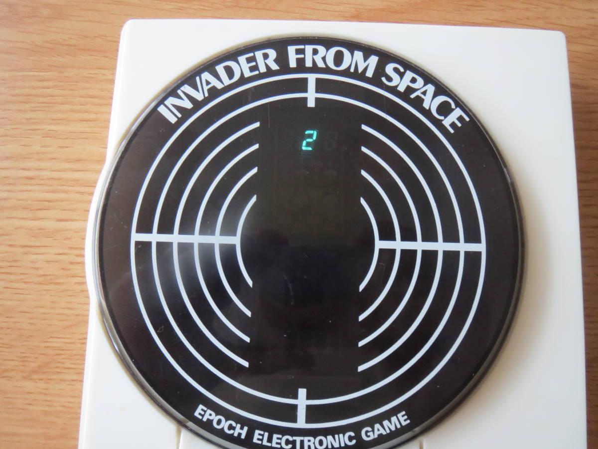 遊べます 希少 1980年 インベーダーゲーム エポック エレクトロニック ゲーム INVADER FROM SPACE ビンテージ _画像3