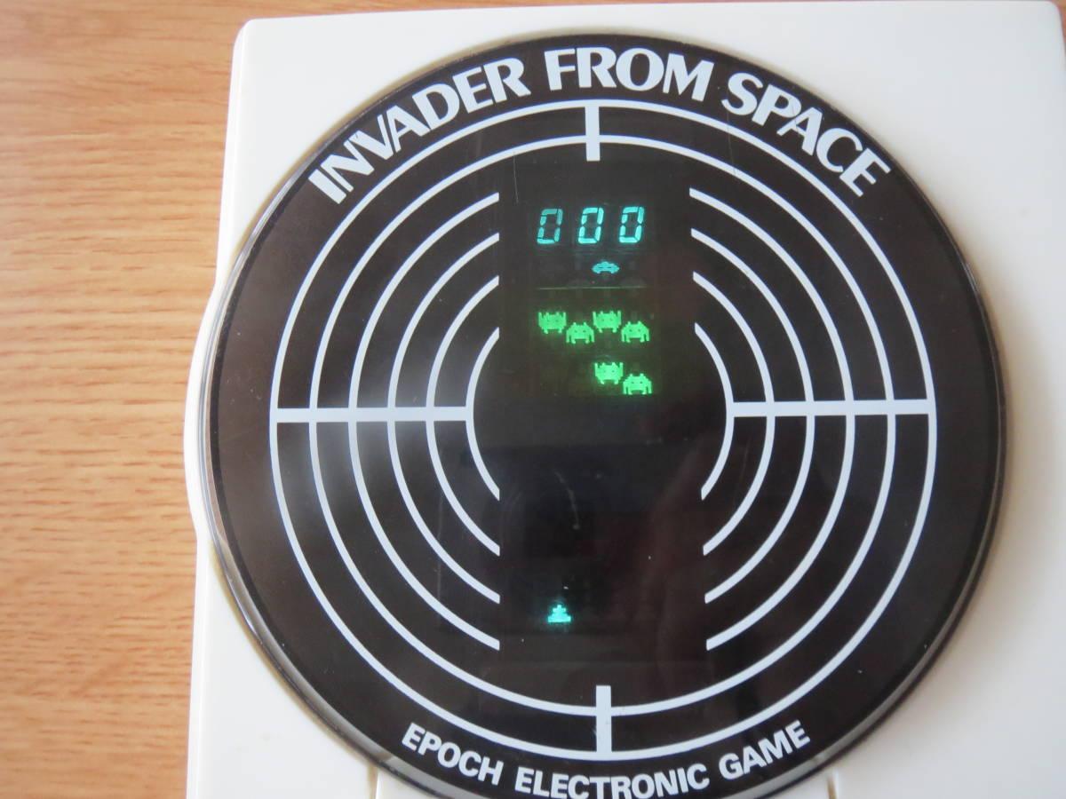 遊べます 希少 1980年 インベーダーゲーム エポック エレクトロニック ゲーム INVADER FROM SPACE ビンテージ _画像5