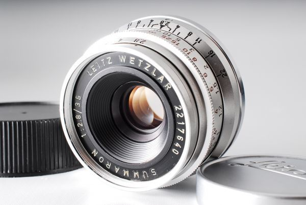 ★極上美品★Leica Summaron M 35mm F2.8 純正キャップ ズマロン#319