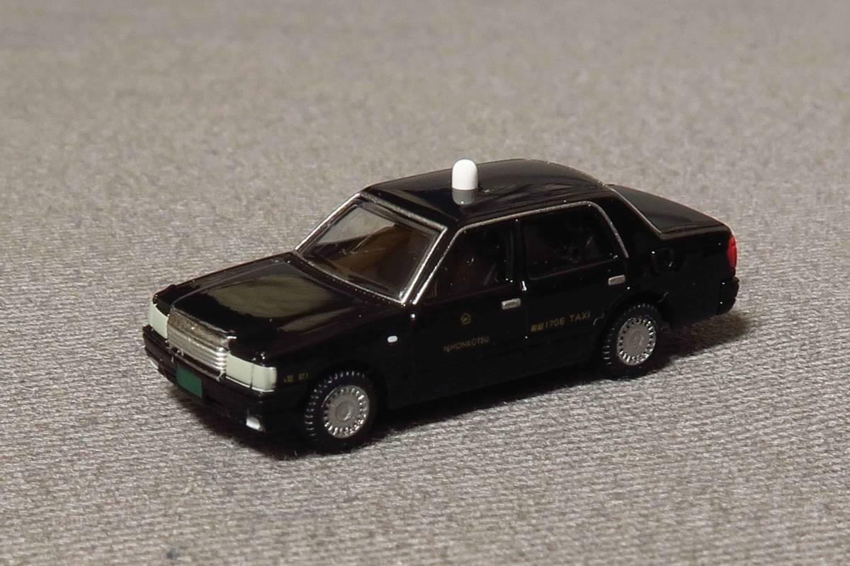 カーコレクション 基本セットばらし 日本交通 クラウンセダン タクシー 黒色