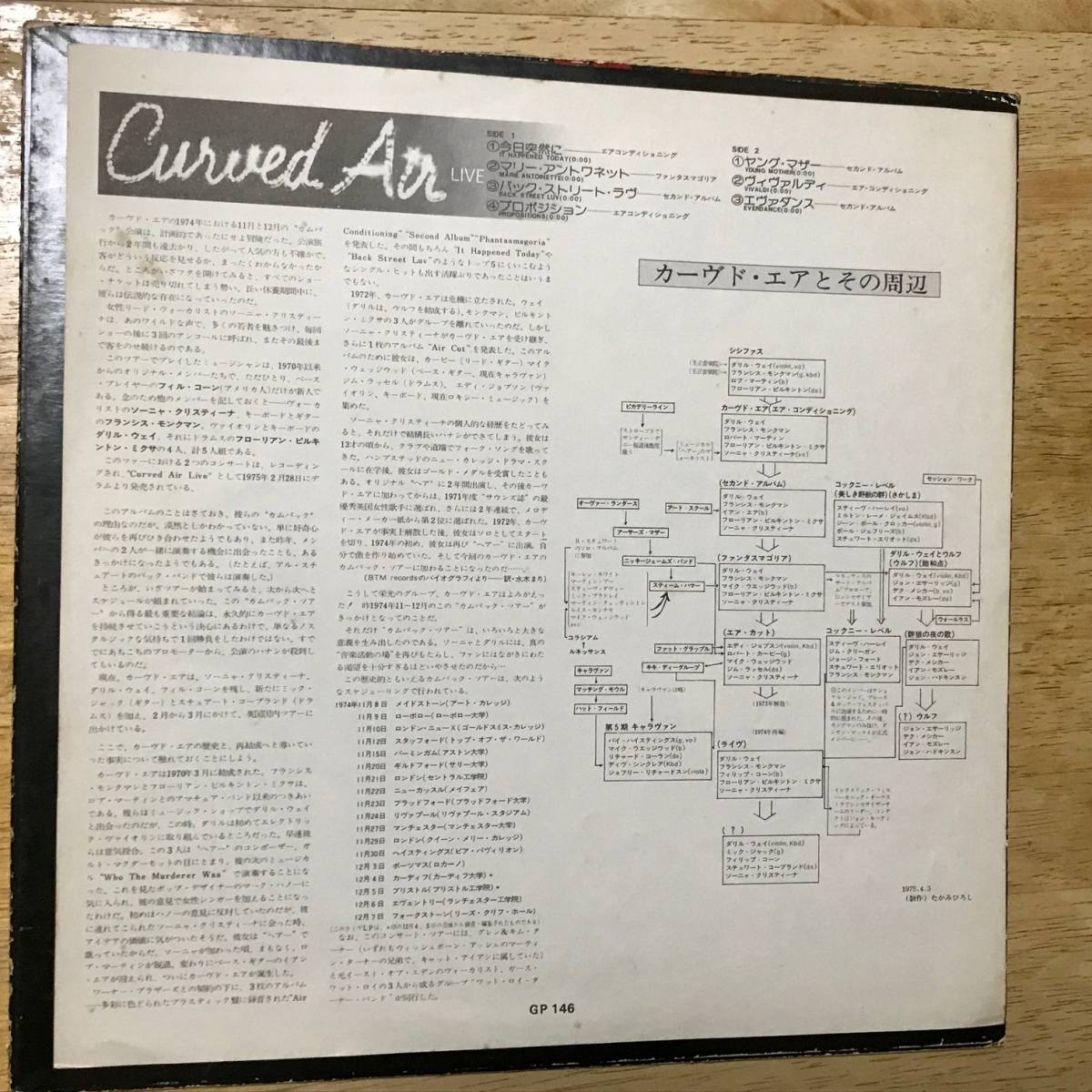 Curved Air / Curved Air Live 国内盤 カーブド・エア,Darryl Way_画像3