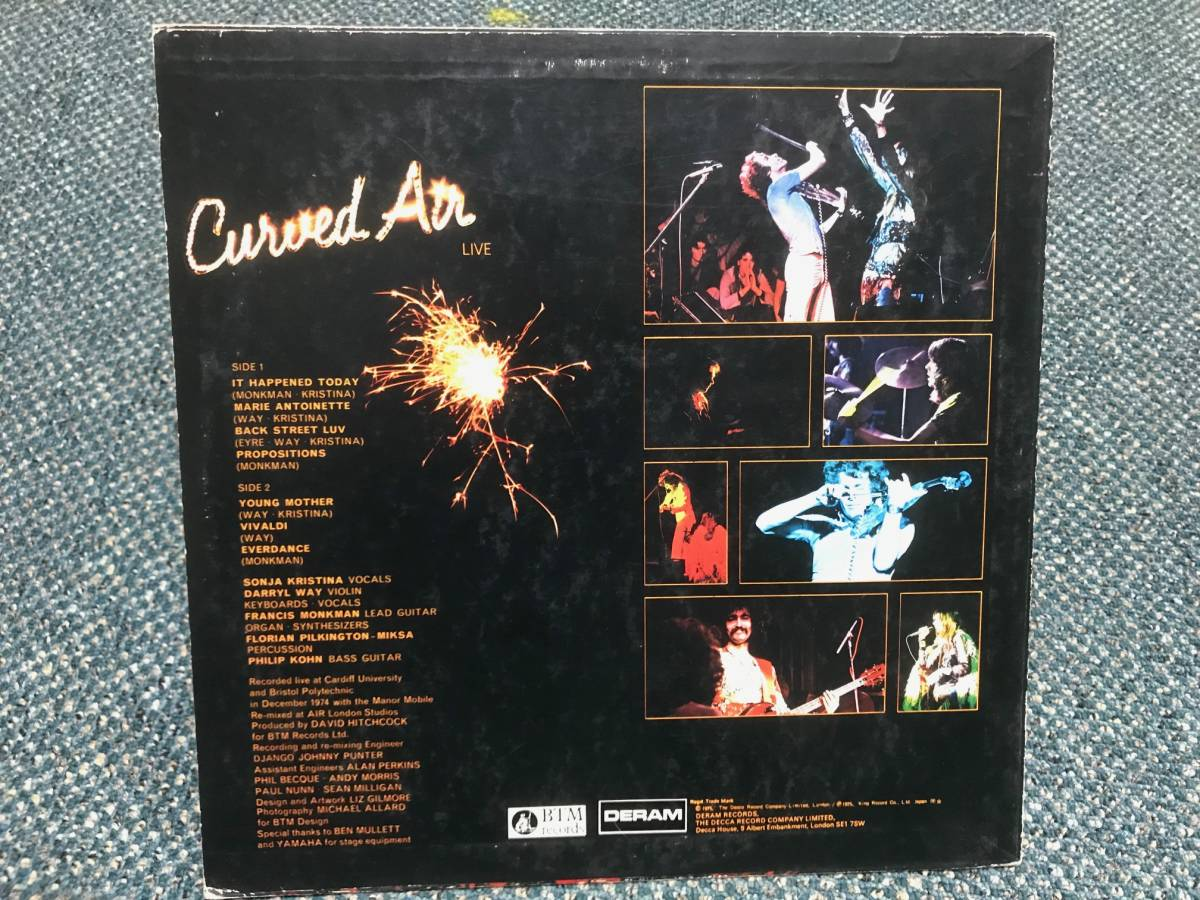 Curved Air / Curved Air Live 国内盤 カーブド・エア,Darryl Way_画像2