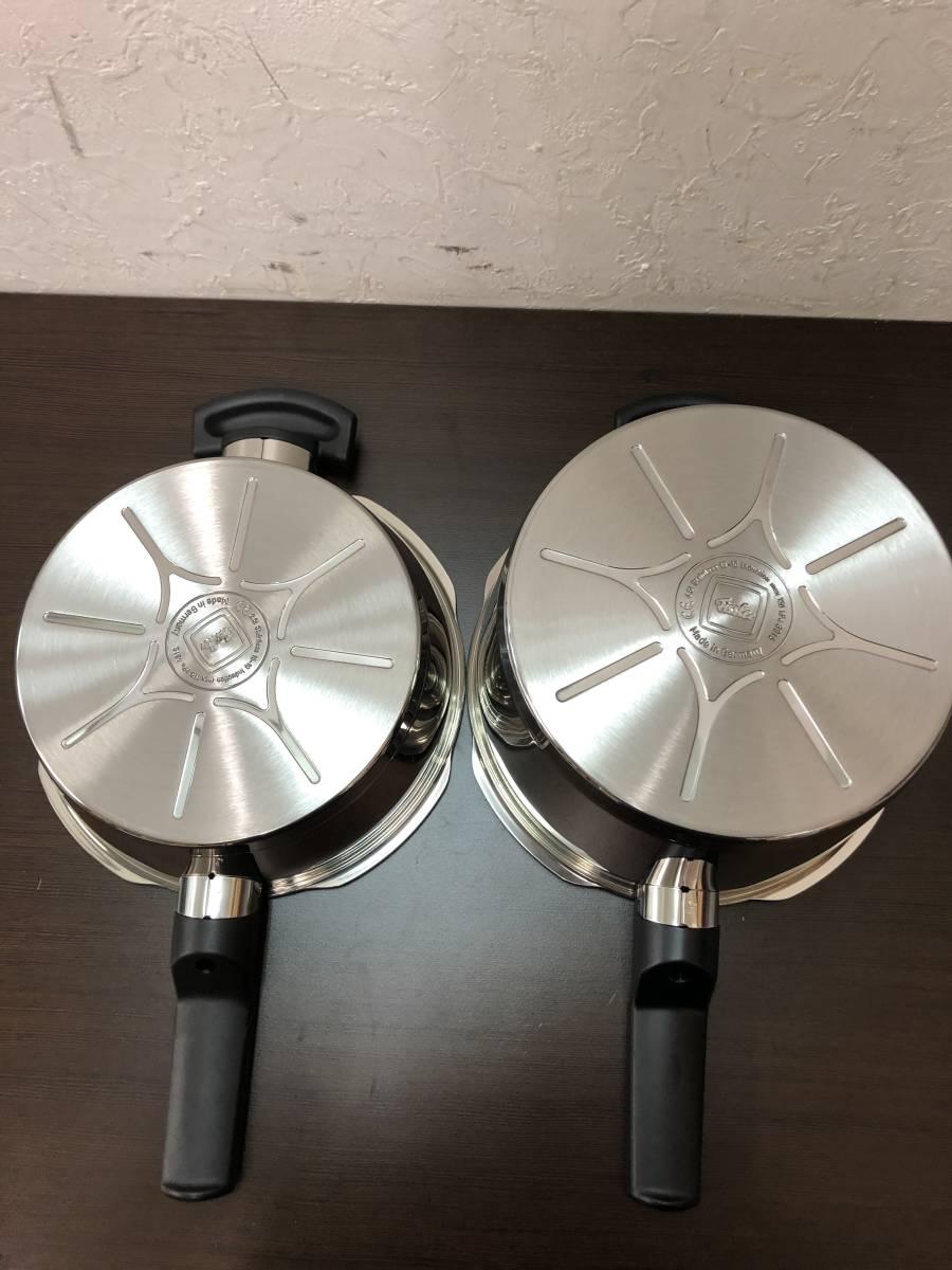 77YC6256 fissler フィスラー 片手 圧力鍋 セット 良品_画像7