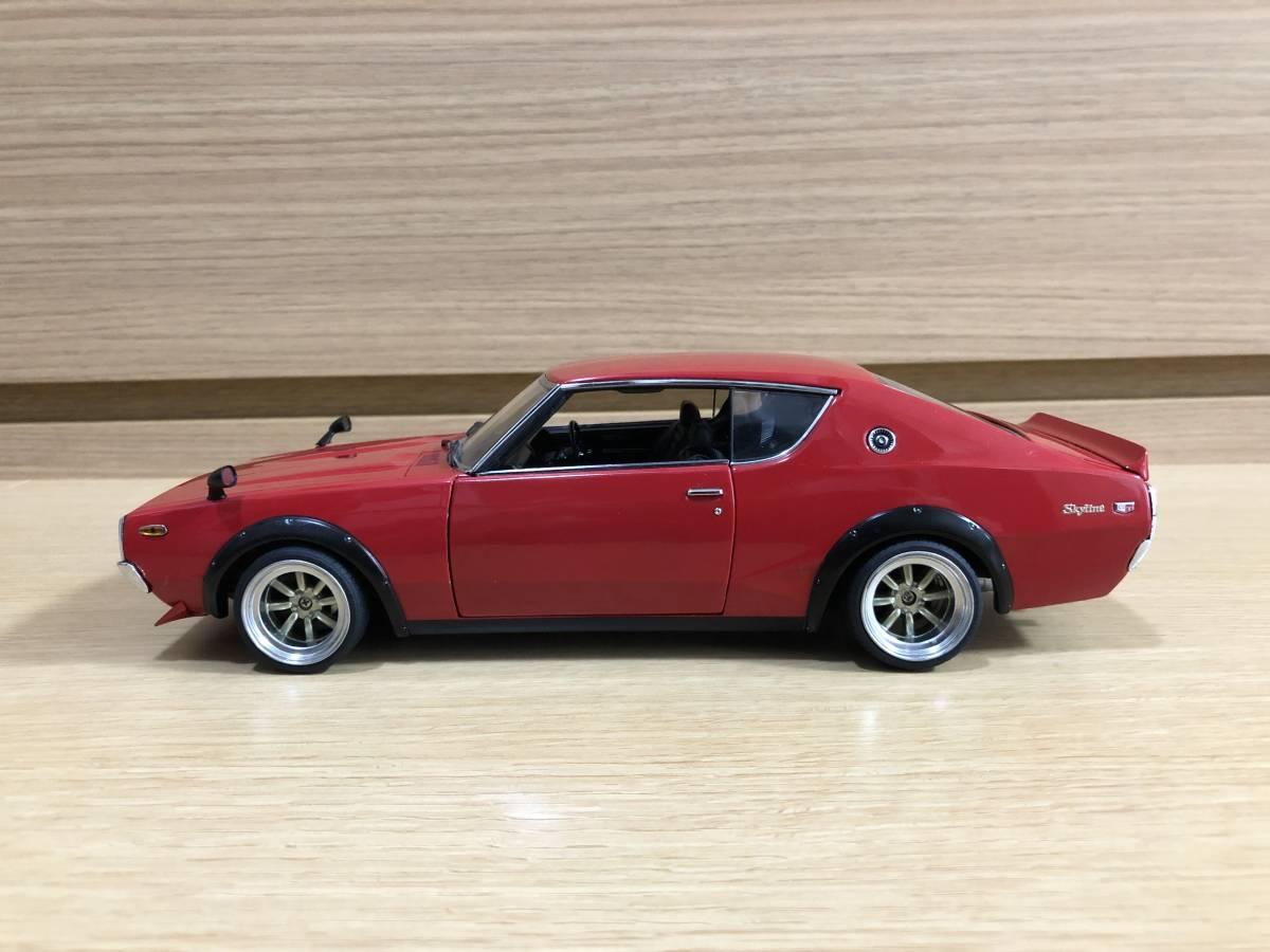1/18 京商 日産 スカイライン 2000 GT-R (KPGC110) レッド タイヤ・ホイールカスタム_画像2