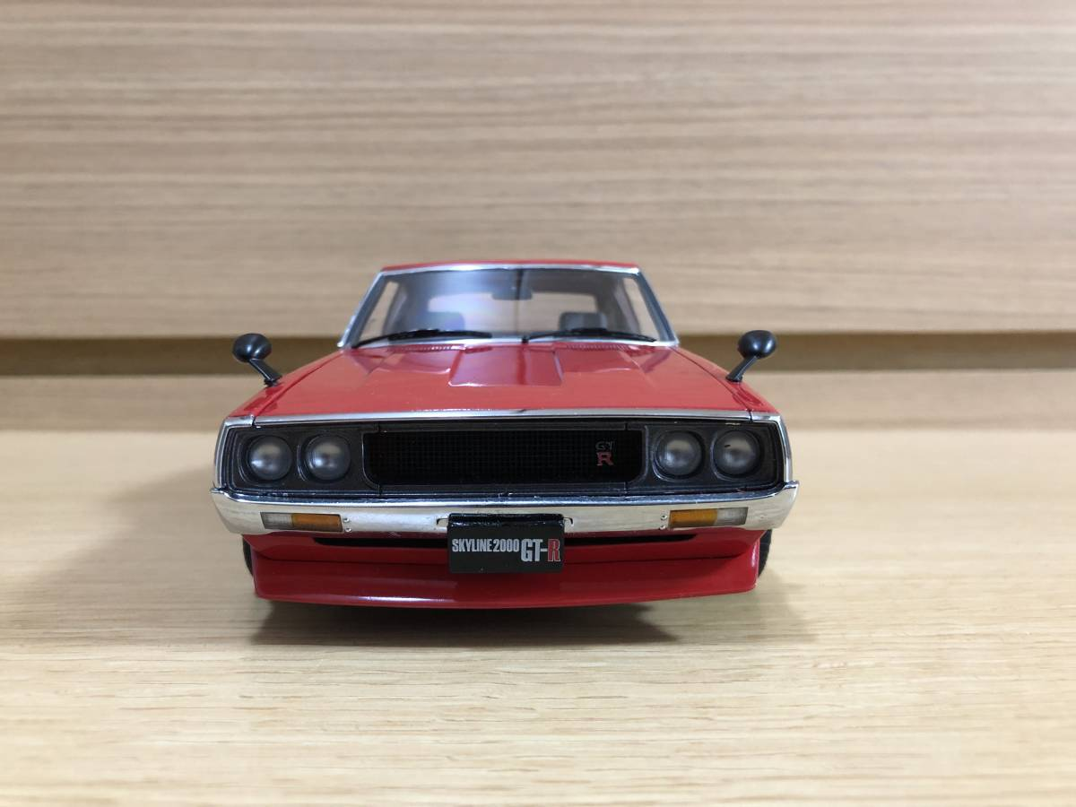 1/18 京商 日産 スカイライン 2000 GT-R (KPGC110) レッド タイヤ・ホイールカスタム_画像3