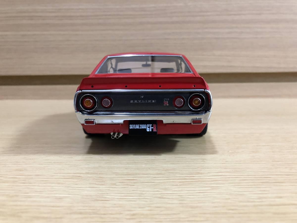 1/18 京商 日産 スカイライン 2000 GT-R (KPGC110) レッド タイヤ・ホイールカスタム_画像5