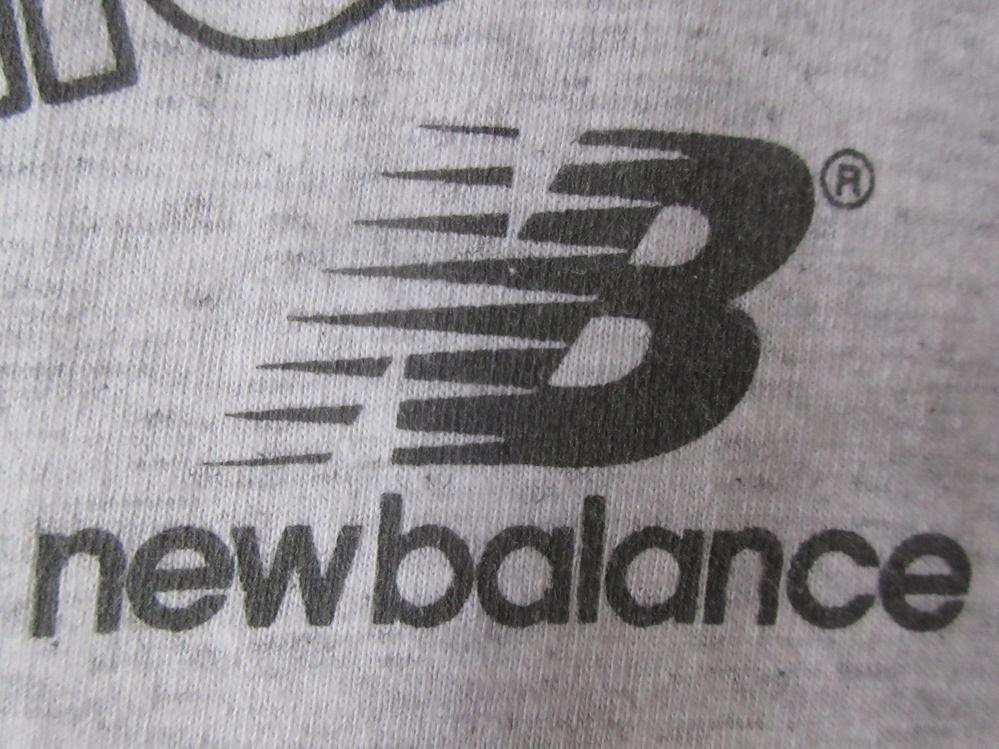 638889030a0bf 90's USA製 ニューバランス Tシャツ L アッシュグレー系 New Balance NB激レア マルチ