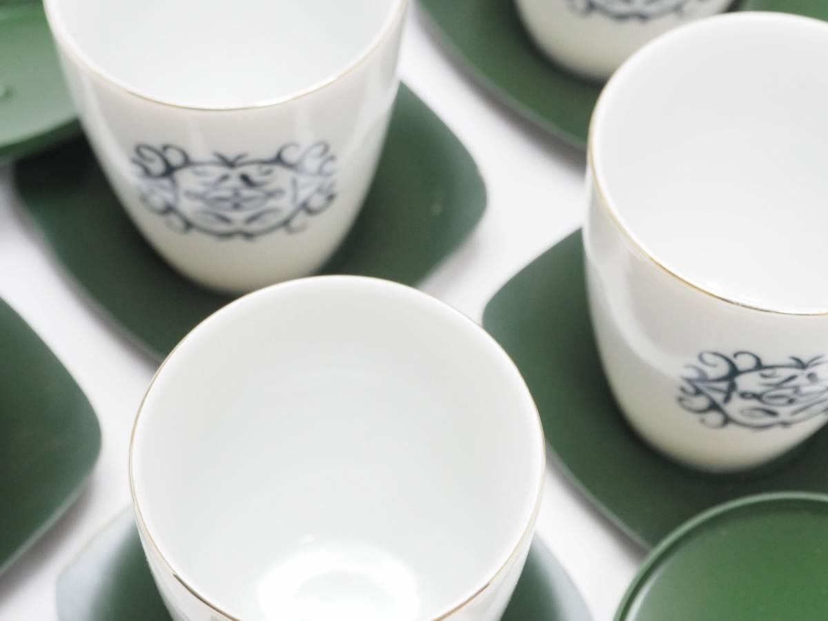 Z0C0031 【 湯飲み 蓋 茶托付 5組 セット 紙箱付 】 検) 茶器 煎茶器 湯呑み ゆのみ 汲出 茶碗 5客 セット お茶 和食器 食器 p02_画像6