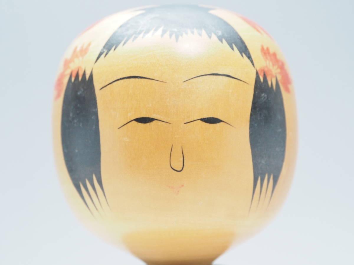 Z0A0072 【 鳴子系 高橋輝行 作 伝統こけし 高27.0cm 】 検) 作家物 木製 木工芸 こけし 日本人形 和風 置物 飾り物 オブジェ 人形 p02_画像2