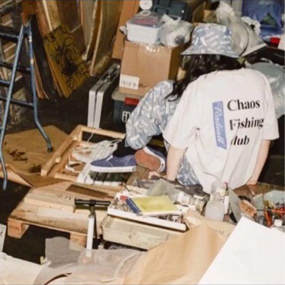 レア 新品 Chaos Fishing Club × RADIALL 限定 Tシャツ 19SS T-SHIRT S/S 胸ポケット ラディアル カオスフィシングクラグ_画像3