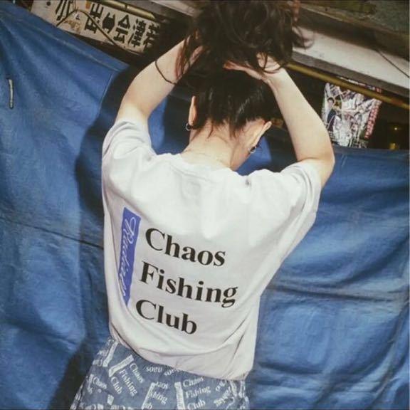 レア 新品 Chaos Fishing Club × RADIALL 限定 Tシャツ 19SS T-SHIRT S/S 胸ポケット ラディアル カオスフィシングクラグ_画像4