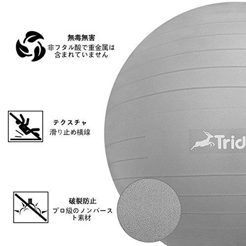 ◎限定1個! (シルバー, 65 cm)Trideer バランスボール 55 65 75 cm (シルバー, 65 cm)_画像3