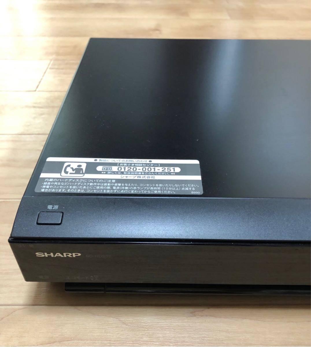 シャープ ブルーレイレコーダー BD-HDS32_画像2