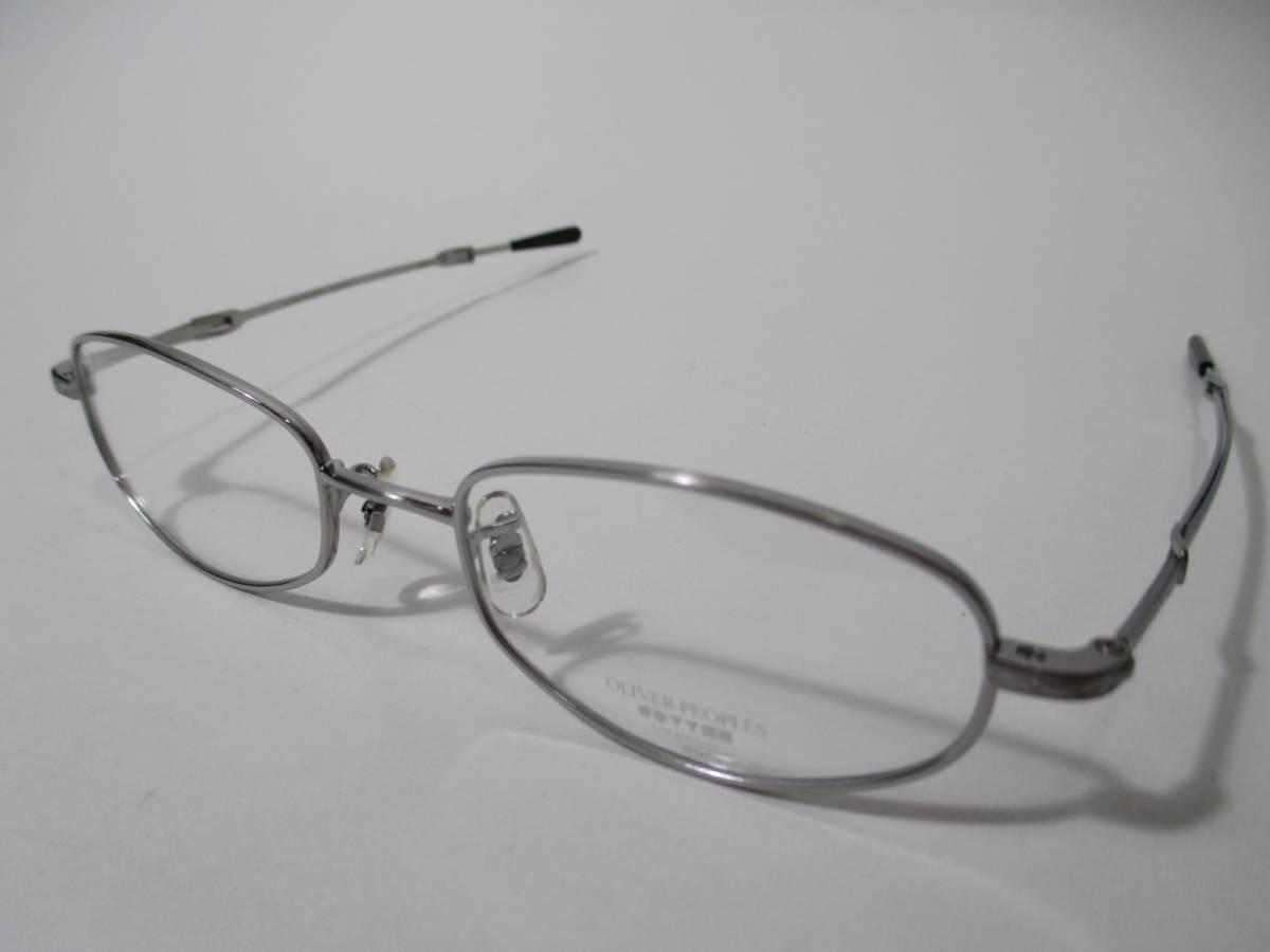 22296 未使用 OLIVER PEOPLES オリバーピープルズ 眼鏡 メガネ OP-711 CV メタルフレーム フルリム TITANIUM チタン 48□18-160_画像1