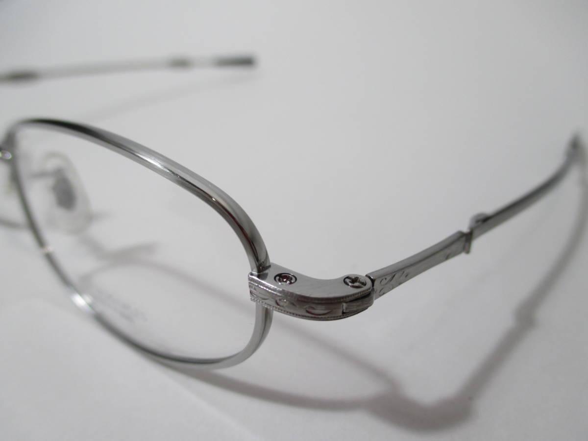 22296 未使用 OLIVER PEOPLES オリバーピープルズ 眼鏡 メガネ OP-711 CV メタルフレーム フルリム TITANIUM チタン 48□18-160_画像3