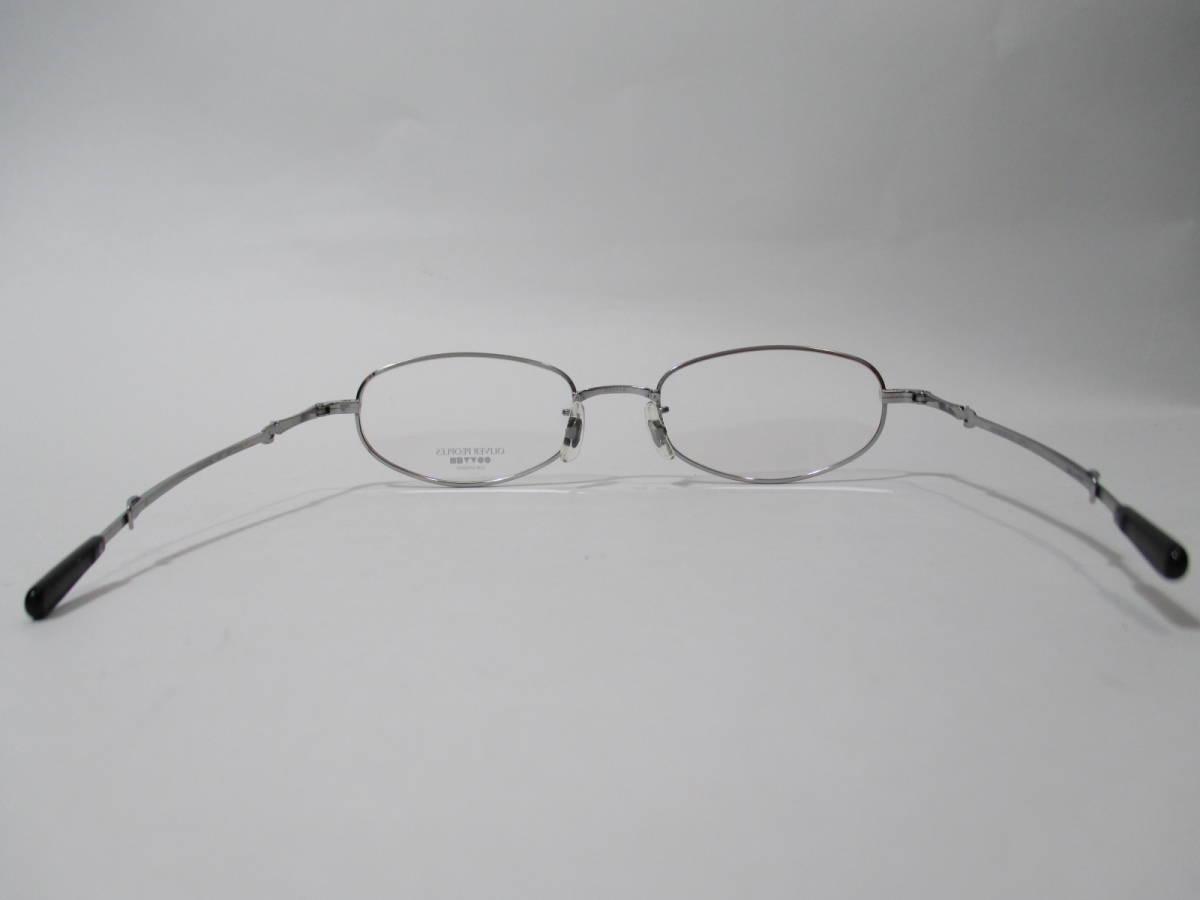 22296 未使用 OLIVER PEOPLES オリバーピープルズ 眼鏡 メガネ OP-711 CV メタルフレーム フルリム TITANIUM チタン 48□18-160_画像6