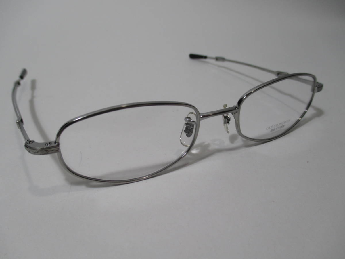 22296 未使用 OLIVER PEOPLES オリバーピープルズ 眼鏡 メガネ OP-711 CV メタルフレーム フルリム TITANIUM チタン 48□18-160_画像7