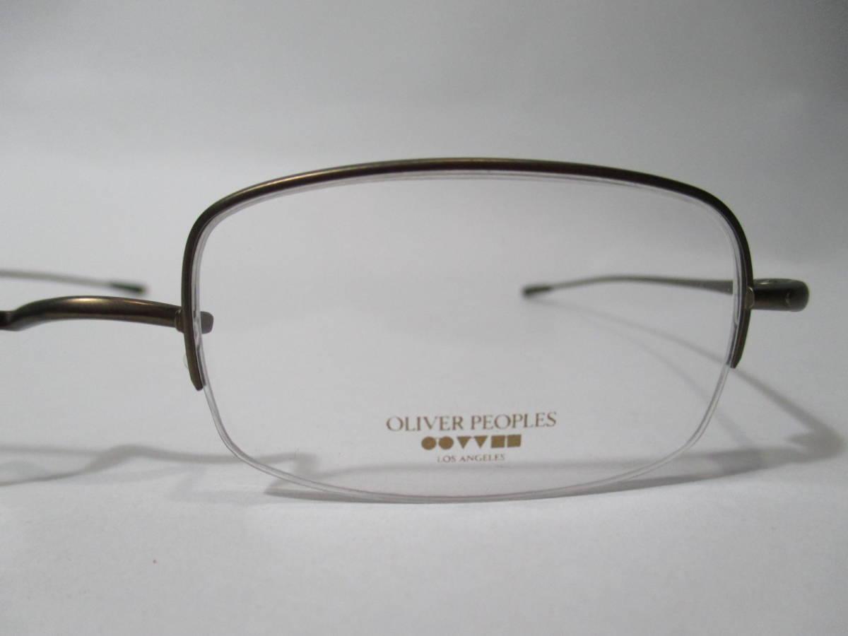 22304 未使用 OLIVER PEOPLES オリバーピープルズ 眼鏡 メガネ OP-638 AUT メタルフレーム ハーフリム 46□22-135_画像2