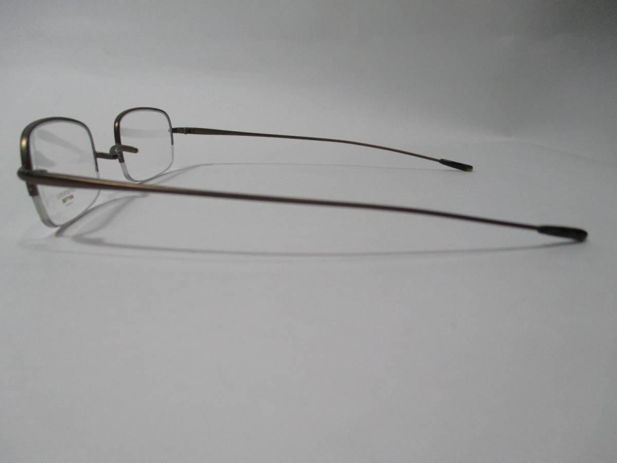 22304 未使用 OLIVER PEOPLES オリバーピープルズ 眼鏡 メガネ OP-638 AUT メタルフレーム ハーフリム 46□22-135_画像4
