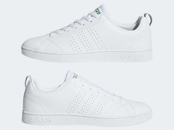 100円~ adidas バルクリーン2 [VALCLEAN2] 白/白/緑 27.5cm_画像3