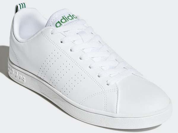100円~ adidas バルクリーン2 [VALCLEAN2] 白/白/緑 27.5cm