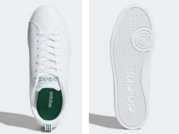 100円~ adidas バルクリーン2 [VALCLEAN2] 白/白/緑 27.5cm_画像6