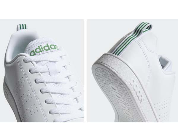 100円~ adidas バルクリーン2 [VALCLEAN2] 白/白/緑 27.5cm_画像7